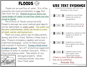 Floods and Droughts: Research, Organizers, Text Evidence, and Safety Tips