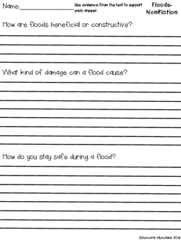 Floods Paired Passages with Text Based Evidence Questions