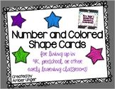 Floor Cards for Lining Up - Numbers and Colored Shapes
