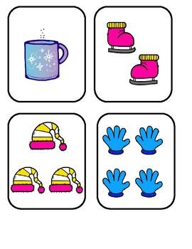 Floor Game - Winter Math Sort