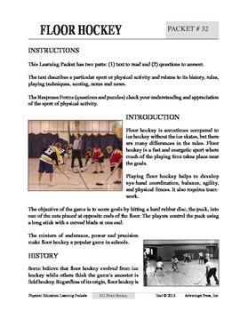 Floor Hockey: An Academic Learning Packet