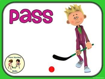 Floor Hockey- Top 10 Skill Visuals- Simple Large Print Design