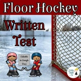 Floor Hockey Written Test and Answer Key - Editable in Goo