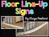 Floor Line-Up Posters {Student Line-Up Tool}