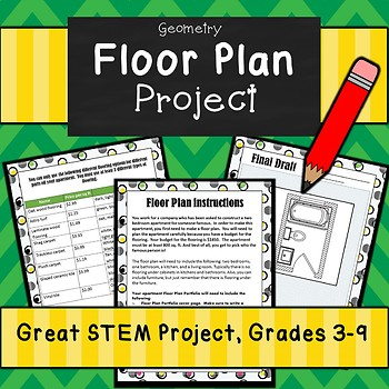 Floor Plan w/ Real Life Budget Sheet- Great STEM Project Using Ratios and Area!
