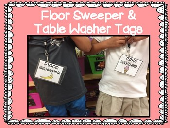 Floor Sweeper & Table Washer Tags FREEBIE