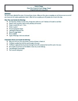 Floorplan and Presentation Assignment