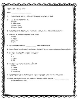 Floors Quick Comprehension Quiz Checks