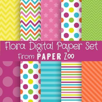Flora Digital Paper Set