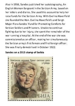 Flora Sandes World War One Female Soldier Handout