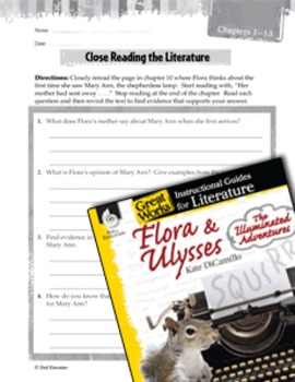 Flora & Ulysses: Close Reading And Text-Dependent Questions