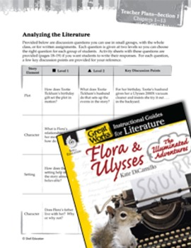 Flora & Ulysses: The Illuminated Adventure Leveled Comprehension Questions