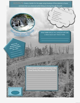 Flora and Fauna of the Great Smoky Mountain NP - One Pager