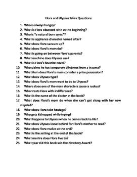 Flora and Ulysses Trivia Questions