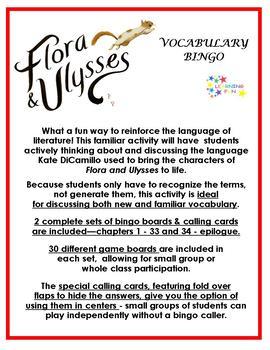 Flora and Ulysses Vocabulary Bingo