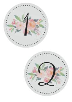 Floral Alphabet/Number Banner