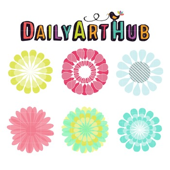 Floral Art Clip Art - Great for Art Class Projects!