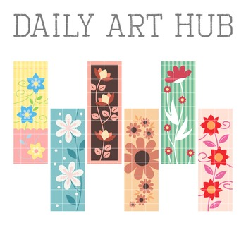 Floral Artworks Clip Art - Great for Art Class Projects!