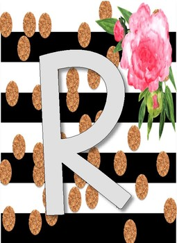 Floral, B & W, Burlap READ Banner