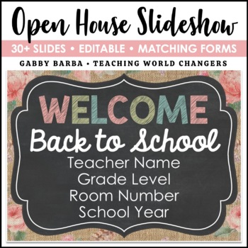 Shabby Chic Back to School PowerPoint