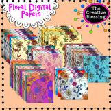 Floral Backgrounds Digital Backgrounds