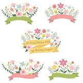 Floral Banner, Header, Label Clipart
