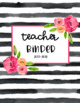 Floral Binder Covers