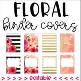 Floral Binder Covers (editable)
