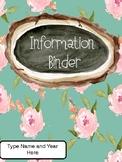 Floral Binder Pages