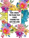Floral Watercolor Binder/Planner Cover