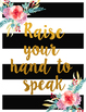 Floral Design Rules Poster Set (Cursive), 20 posters, 8.5x11 inches, JPEG