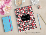 Floral Black and Red Binder for Principal, Assistant Princ