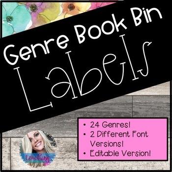 Floral Book Bin Labels!