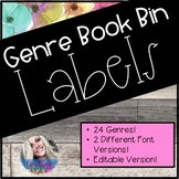 Floral Book Bin Labels!