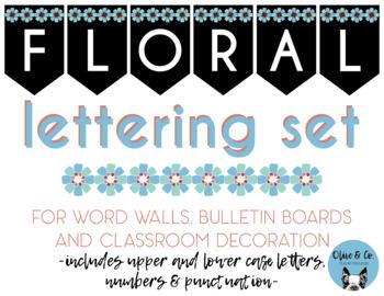 Floral Bulletin Board Lettering Set