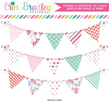 Floral Bunting Clipart