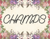 Floral CHAMPS Chart (11x14)