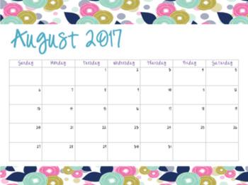 Floral Calendar (2017-2018)