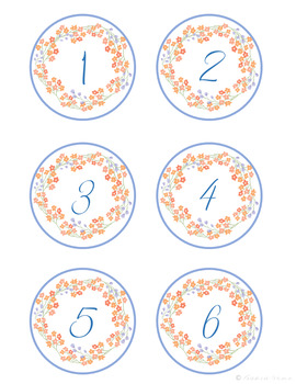 Floral Calendar Set- Coral and Blue