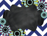 Floral Chevron Chalkboard Backgrounds