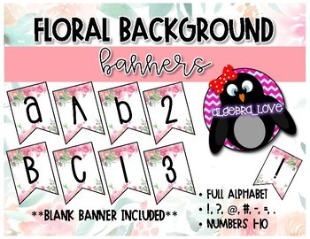 Floral Classroom Banner