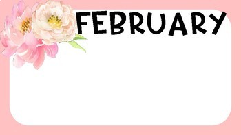 Floral Classroom- Birthday Chart