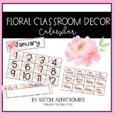 Floral Classroom- Calendar Set
