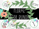 Floral Classroom Decor and Clipart Bundle: Editable