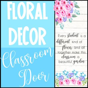 Floral Classroom Door Decoration