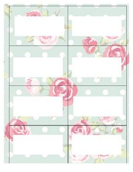 Floral Classroom Labels