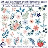 Floral Clipart, Elements MEGA Design pack, DIY Floral Wreath Creator, AMB-1840