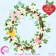 Floral Clipart, Floral Wreath Clipart, It's a Girl Clipart AMB-1099