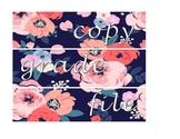 Floral Copy, Grade, File, Labels