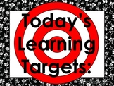 Floral Daily Learning Targets Bulletin Board Set